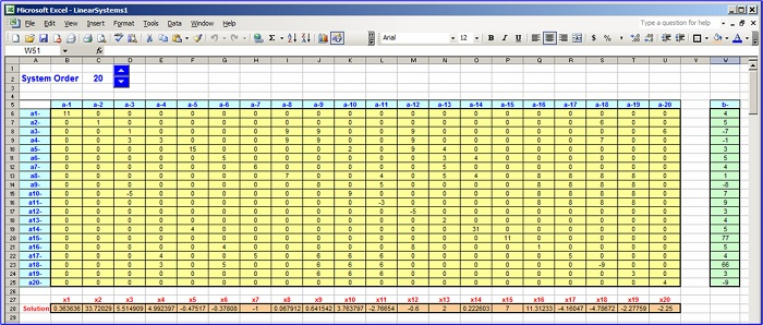 A Solver for Systems of Linear Equations in Excel - Excel