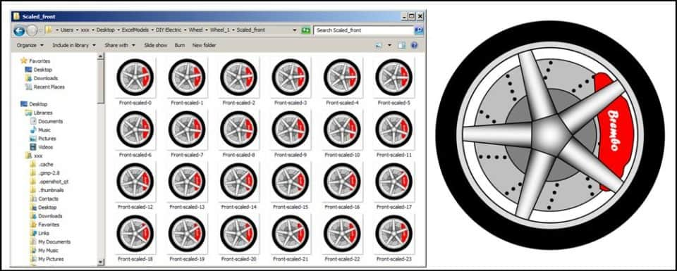 Car wheel sprites used in the car animation